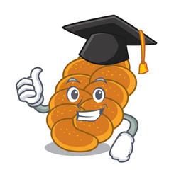 graduation challah character cartoon style vector image