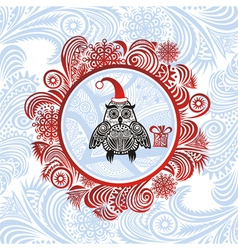 Happy new year merry christmas card vector image