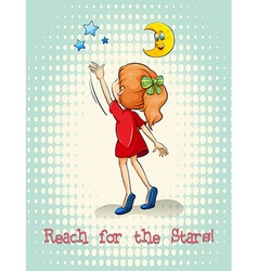 Idiom reach for the stars vector image