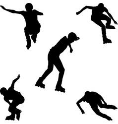 Inline skating vector