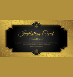 invitation card design - luxury style vector image