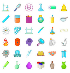 Laboratory icons set cartoon style vector