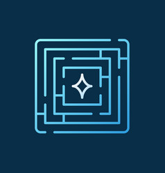 labyrinth colorful outline icon - maze vector image