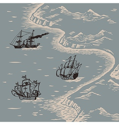 Land and sea vector image