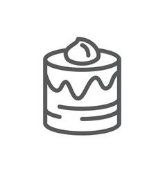 layered glazed round cake pixel perfect icon vector image