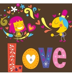 Love 3 vector image