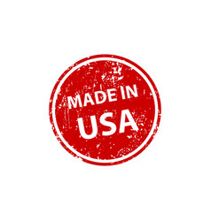 Made in usa stamp texture rubber cliche imprint vector