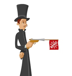 Man with dueling pistol vector image
