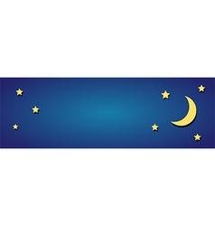 Moon sky vector