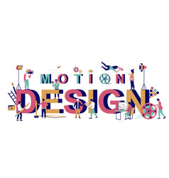 Motion design typography banner template vector