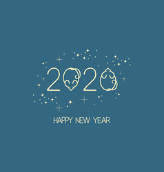 new year mouse logo vector image