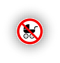 no baby carriage sign vector image