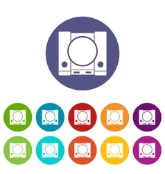 Playstation set icons vector
