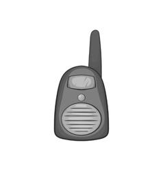 Portable handheld radio icon vector