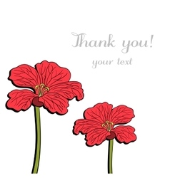Postcard With Red Flowers vector