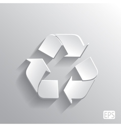 recycle symbol with monochrome leaf plants vector image