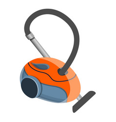 Red vacuum cleaner icon cartoon style vector