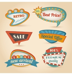 Retro speech bubble vector image