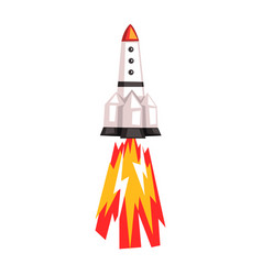 rocket space ship cartoon on vector image