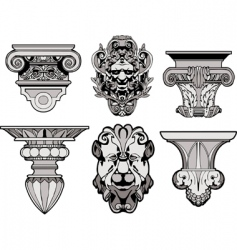 Roman architectural decorations vector