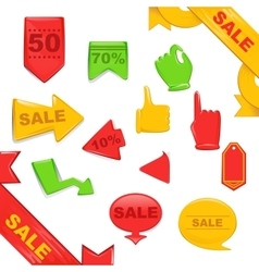 Sale Stickers And Banners Templates Set vector image