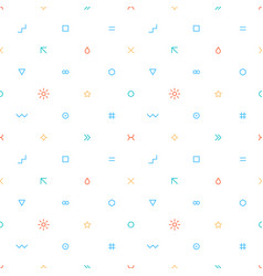 seamless pattern in thin flat style vector image