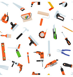 seamless pattern with tools for repair vector image
