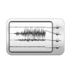 Seismograph recording seismic activity vector