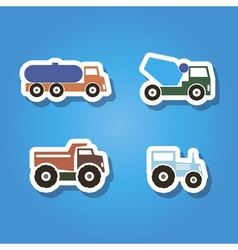 set of color icons with machines vector image