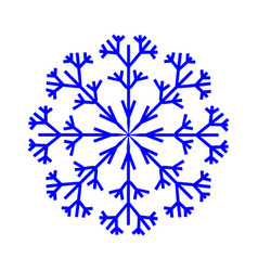 snowflake sign 2710 vector image