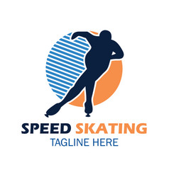 speed skating logo with text space for your slogan vector image