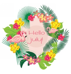 Summer Card wreath with decorations vector image