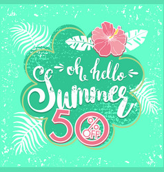 Summer sale background with tropical palm leaves 5 vector