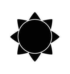 sun icon image vector image