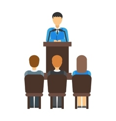 Teamwork multiethnic group of conference people vector image