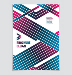 template for cover placard poster flyer and vector image