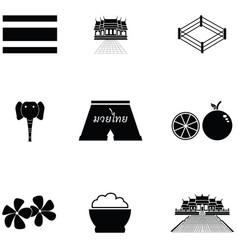 thailand icon set vector image