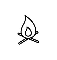 thin line bonfire icon vector image