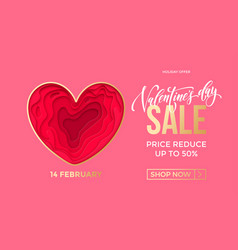 valentines day sale banner design template vector image