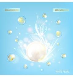 Vitamin E White Sphere vector image