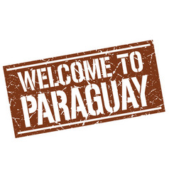 Welcome to paraguay stamp vector