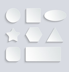 white blank speech bubbles button set on gray vector image