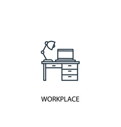 workplace concept line icon simple element vector image
