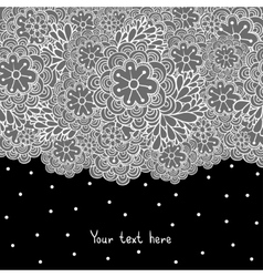 Cute floral romantic background vector image vector image