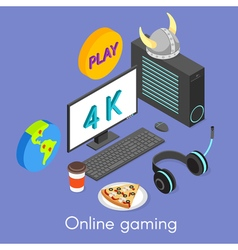 Iisometric concept for online gaming vector image