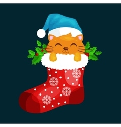 Merry Christmas and happy new year animals vector image vector image