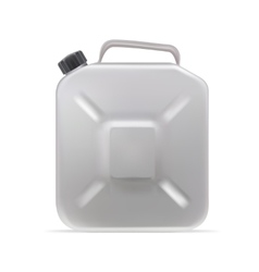 Realistic Clear Blank Jerrycan Canister Gallon Oil vector image