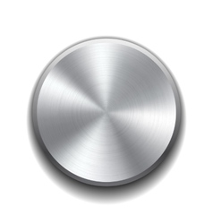 Realistic metal button vector image