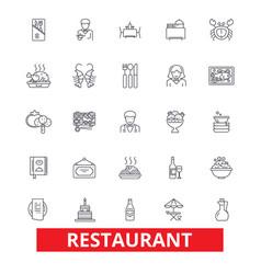 restaurant diner menu pub culinary bar vector image