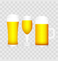 set of glasses with different type vector image